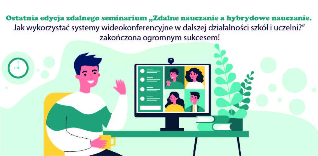 nauka zdalna, nauka hybrydowa, wideokonferencje, seminarium