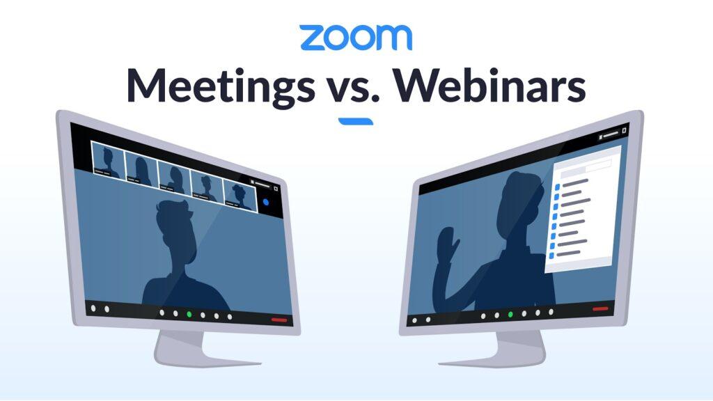 Kiedy korzystać z Zoom Meeting, a kiedy z Webinars?