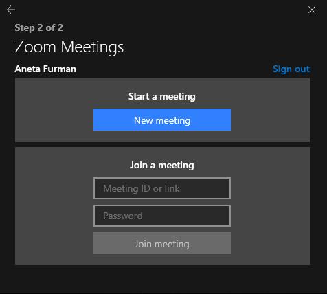 Spotkanie Zoom