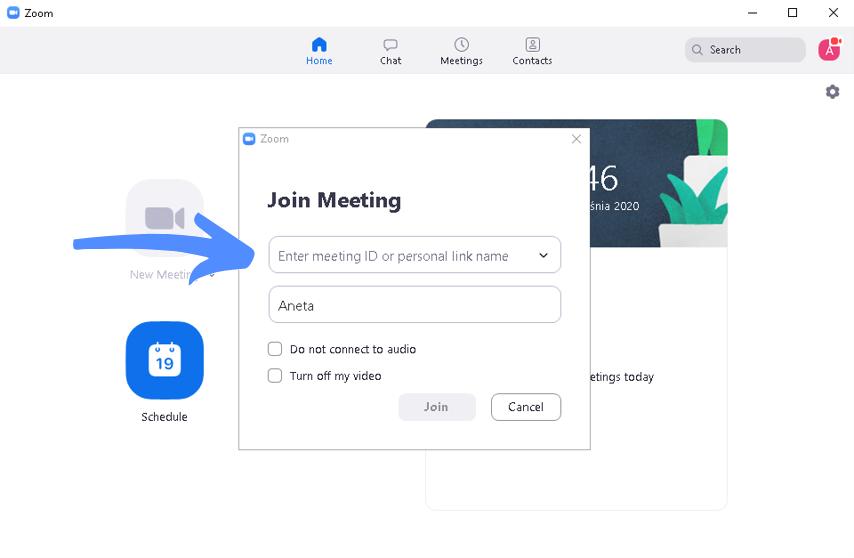 Jak korzystać z Zooma? Dołączanie do spotkania
